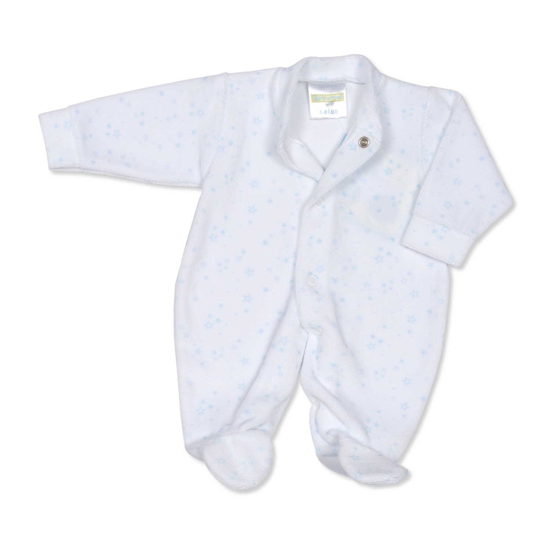 EARLY ARRIVAL/' BUNNY Prem velour sleepsuit
