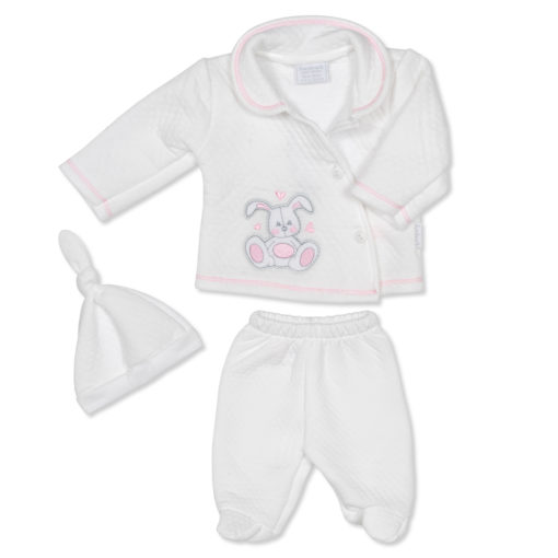 White Outfit Bunny Pink
