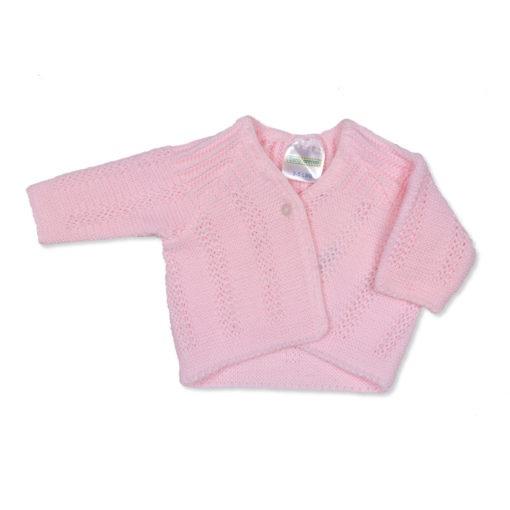 Girls Pink Cardigan GarterGirls Pink Cardigan Garter