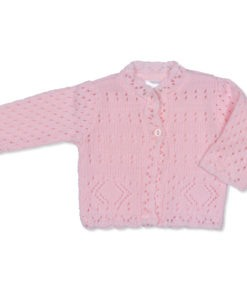 Girls Pink Cardigan Diamond
