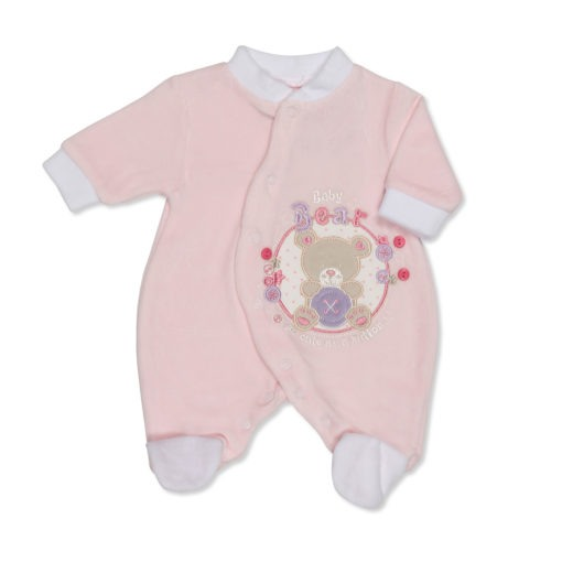 Pink Cute as a Button Sleep Suit