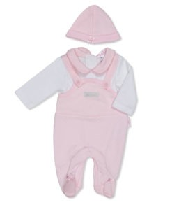 Pink Little and Loved Dungaree Outfit