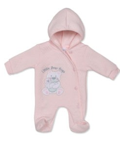 Pink Little Bear Hugs Baby Grow