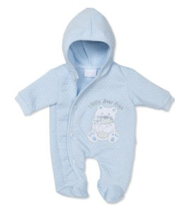Blue Little Bear Hugs Baby Grow