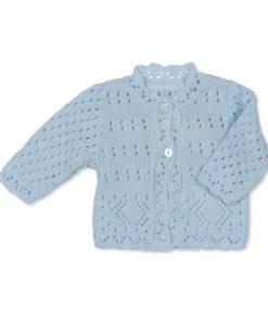 Boys Blue Cardigan Diamond Stitch