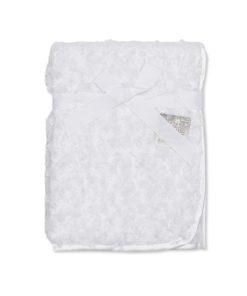 Rose Fur Blanket/Wrap White