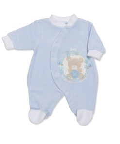 Blue Cute as a Button Sleep Suit