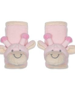 Girls Pink Giraffe Seat Belt Covers
