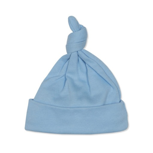 Beanie Hat Knotted Blue