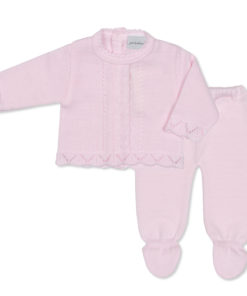 Pink Woollen 2 Piece Trouser and Jacket