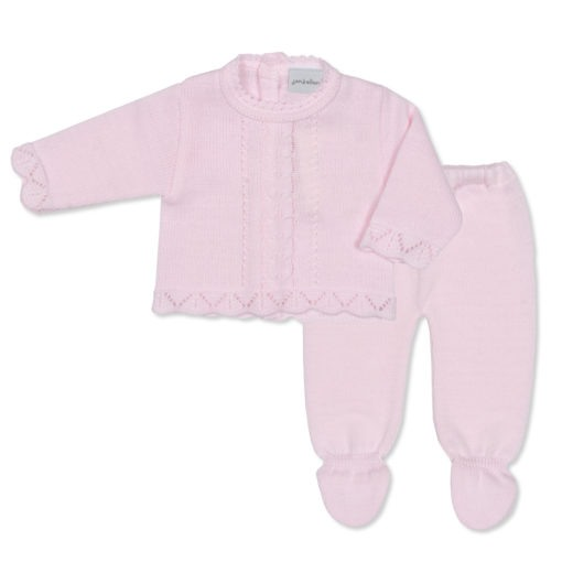 Pink Woollen 2 Piece Trouser and Jacket