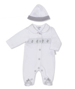 White/Grey Little Chick Sleepsuit