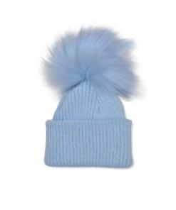 Blue Pom Hat