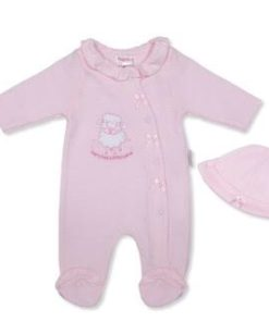 Girls Pink Lamb Babygrow