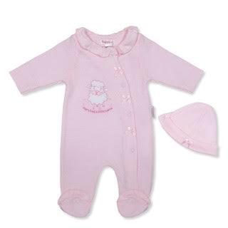 Girls Pink Lamb Babygrow