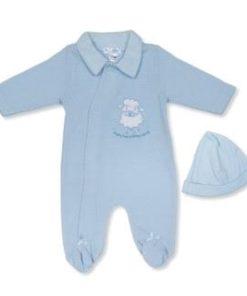 Boys Blue Lamb Babygrow