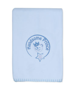 Boys Blue Handsome Prince Blanket
