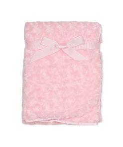 Girls Pink Rose Blanket