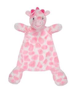 Girls Pink Giraffe Comforter