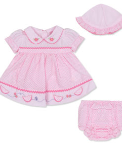Girls Pink Butterfly Dress