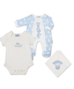 Boys Babygrow, Vest and.Bib Set