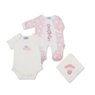 Girls Babygrow and Vest Set