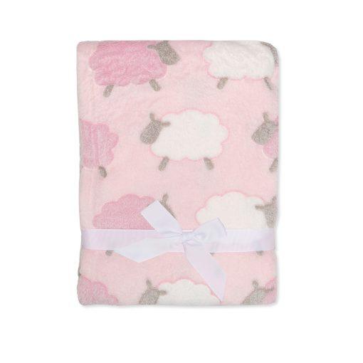 Girls Pink Sheep Blanket