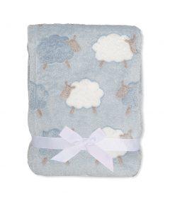 Boys Blue Sheep Blanket