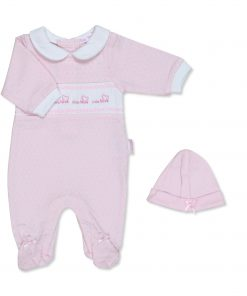 Girls Sleepsuit Collared Love