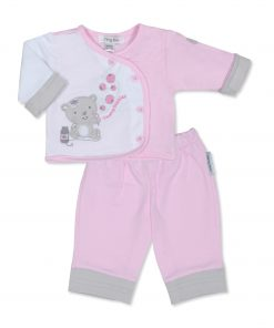 Girls Pink Bubbles Jacket and Trousers