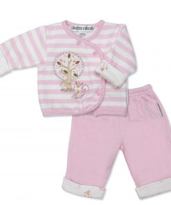 Girls Candy Stripe Squirrel Jacket & Trousers