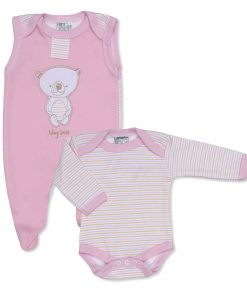 Girls Pink Tiny Bear Outfit
