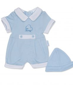 Boys Blue I Love Mummy Shorts