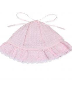 Girls NEWBORN Pink Waffle Beanie Hat