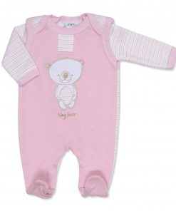 Girls Pink Tiny Bear Outfit with Vest