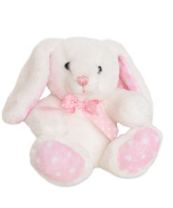Girls White Pink Spotted Rabbit.