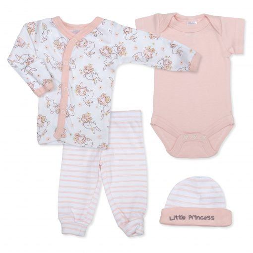 Girls Pink Bunny 4 Piece Set