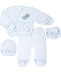 Unisex Pom Pom Knitted Set
