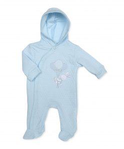 Boys Blue Bunny Sleepsuit