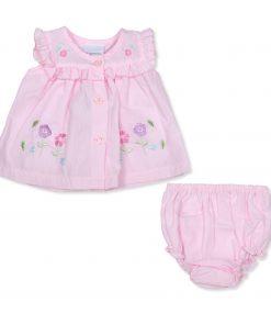 Girls Pink Multi Flower Dress