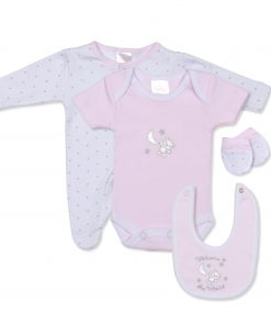 Girls Welcome to World 4 Piece Gift Set
