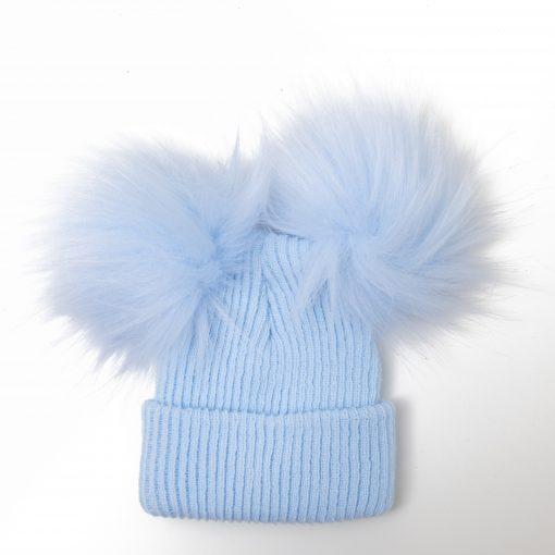 Boys Double Pom Pom Hat